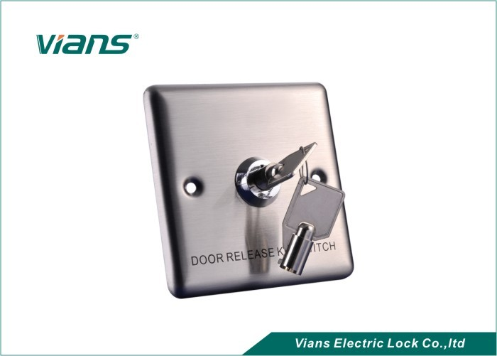 Popular Stainless Steel Door Exit Button With Key For Door Security System