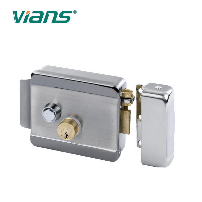 Home Electric Rim Lock Double Cylinder Push Button For Garage Door VI-600B